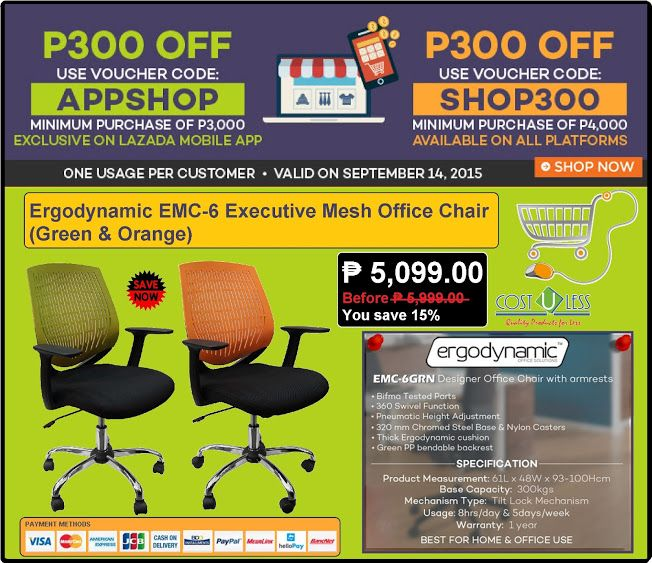 Office Furniture Lazada S Crazy Savings Monday Promo Save P300 Off Dicount On Erynamic