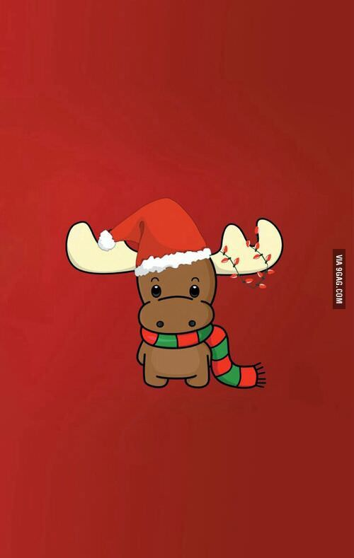 Little Reindeer Wants To Wish You A Merry Christmas Wallpaper Iphone Christmas Cute Christmas Wallpaper Christmas Wallpaper Backgrounds