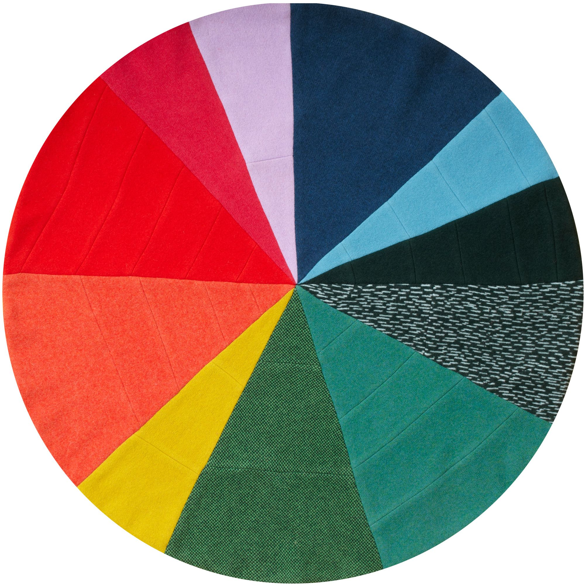 A pie chart with slices of bright colours 100 soft and luxurious a pie chart with slices of bright colours 100 soft and luxurious lambswool nvjuhfo Gallery