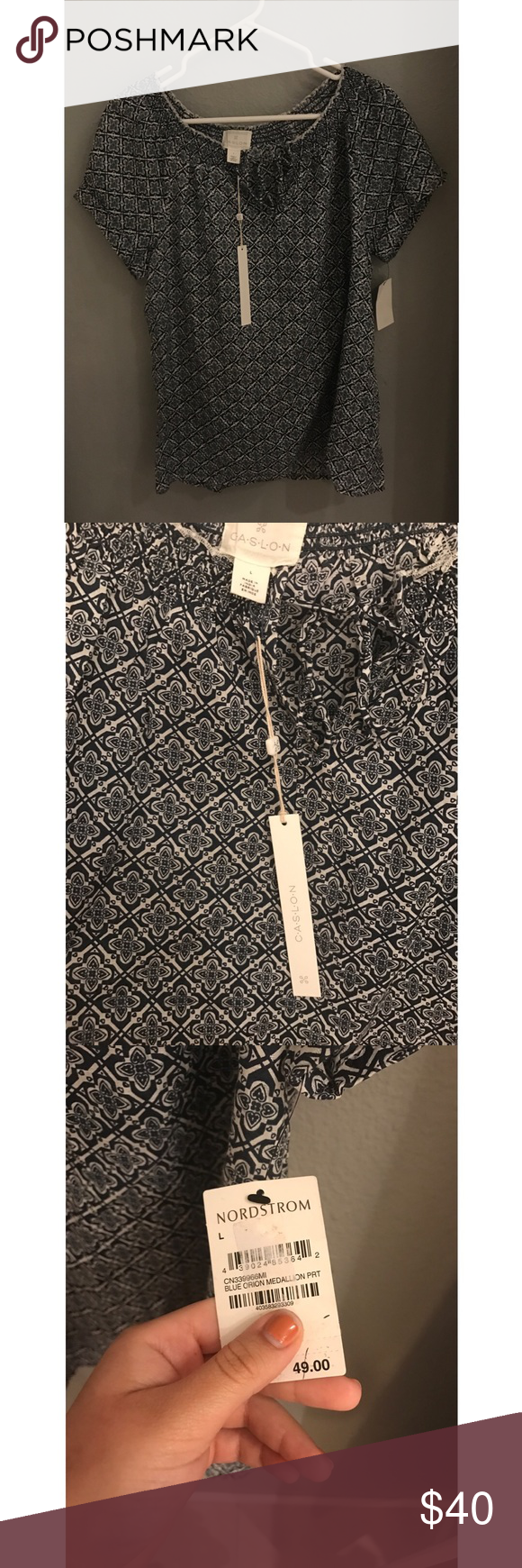 Nordstrom Peasant Top NWT, purchased from Nordstrom's. Nordstrom Tops