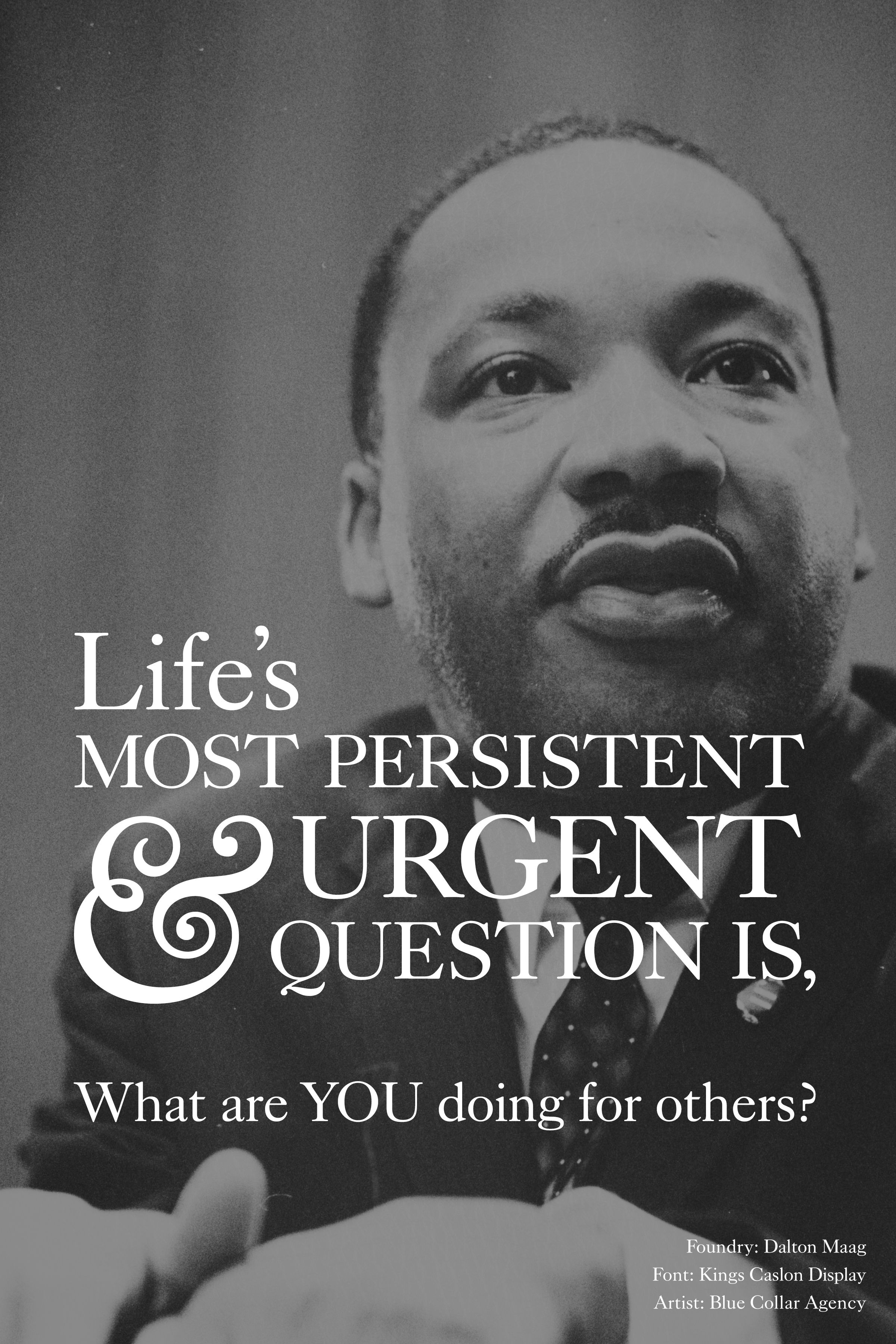 Martin Luther King What Are You Doing For Others Featuring Kings