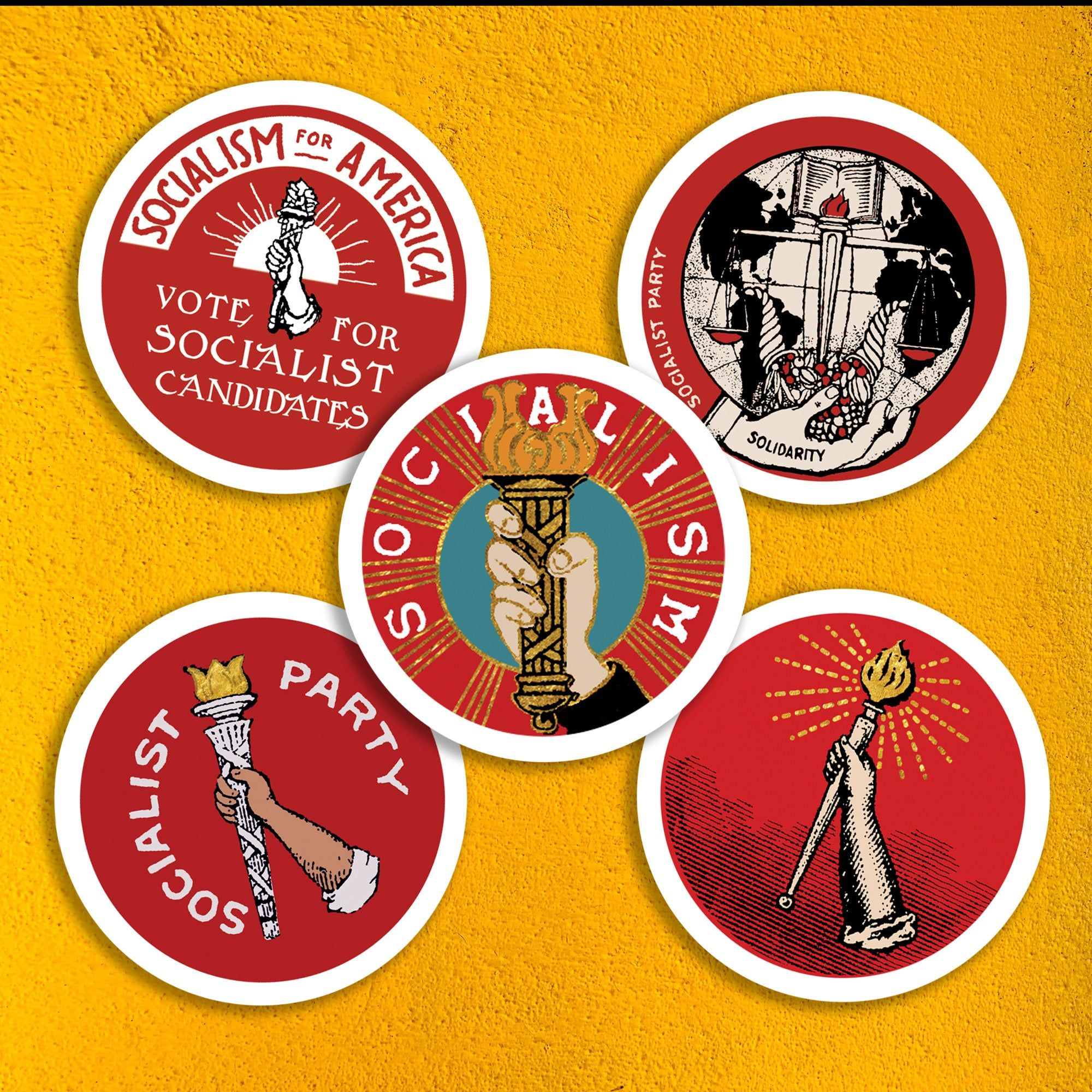 Socialist Torch Sticker Set Retro Socialism Party Solidarity Socialism For America Leftist Vinyl Stickers Small Gift Sticker Set Vinyl Sticker Poster Stickers