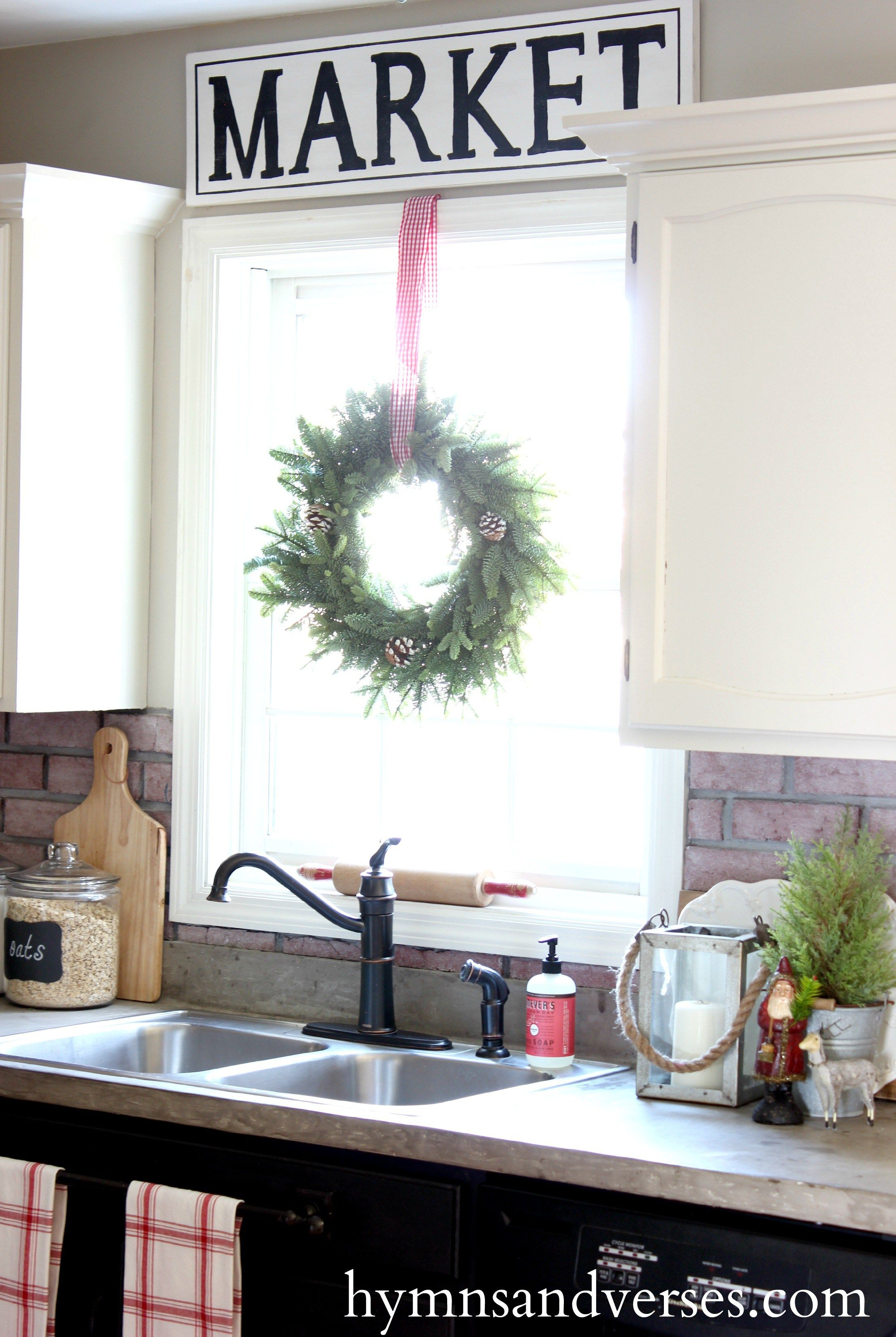 Christmas window decor  my home in  and the changes made in each space  hymns and