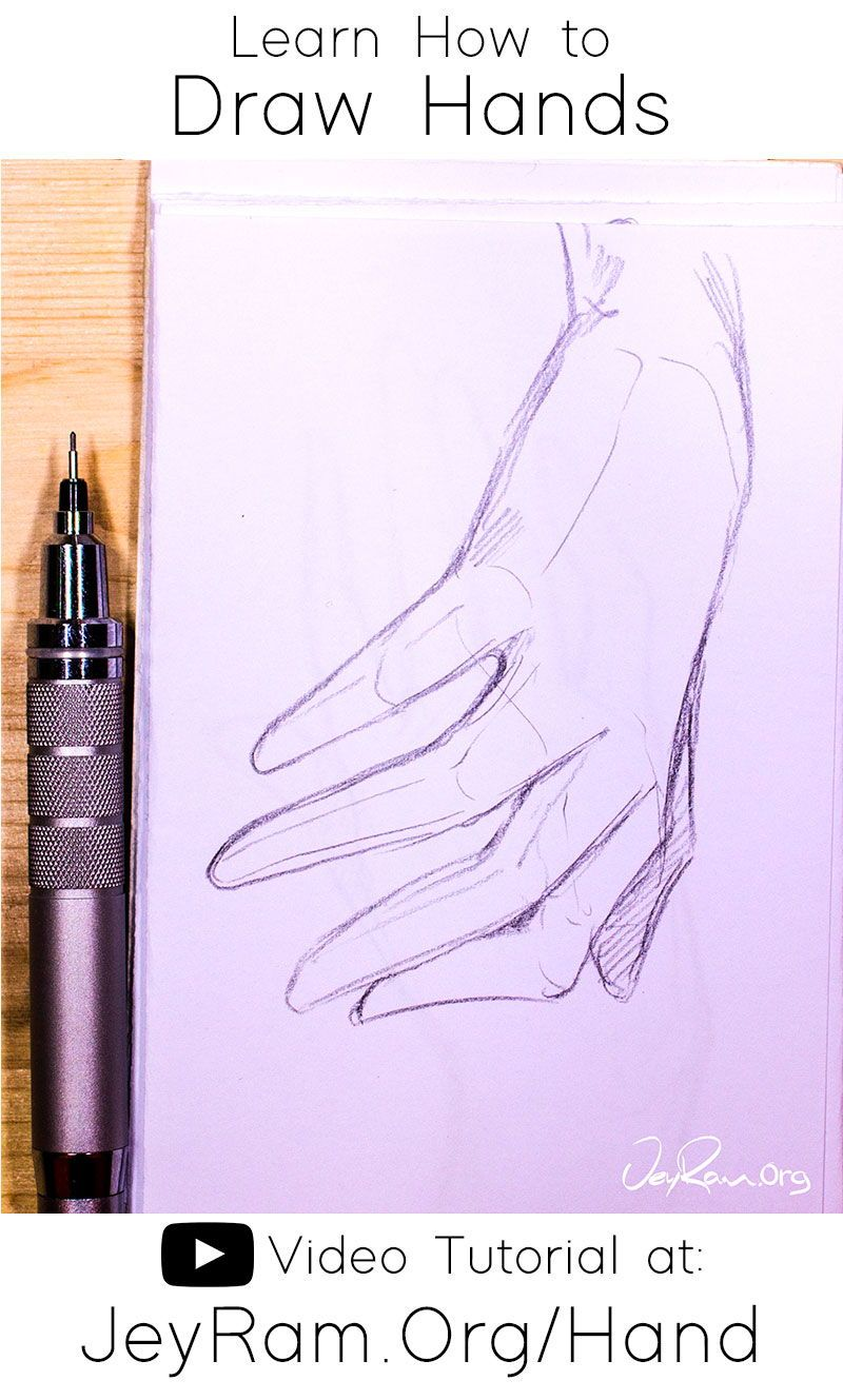 How To Draw Hands Video Tutorial Free Worksheet In 2020 How To Draw Hands Eye Drawing Tutorials Free Hand Drawing
