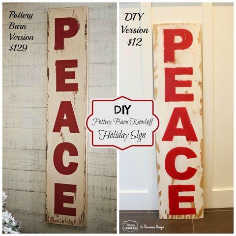 DIY PB PEACE Sign