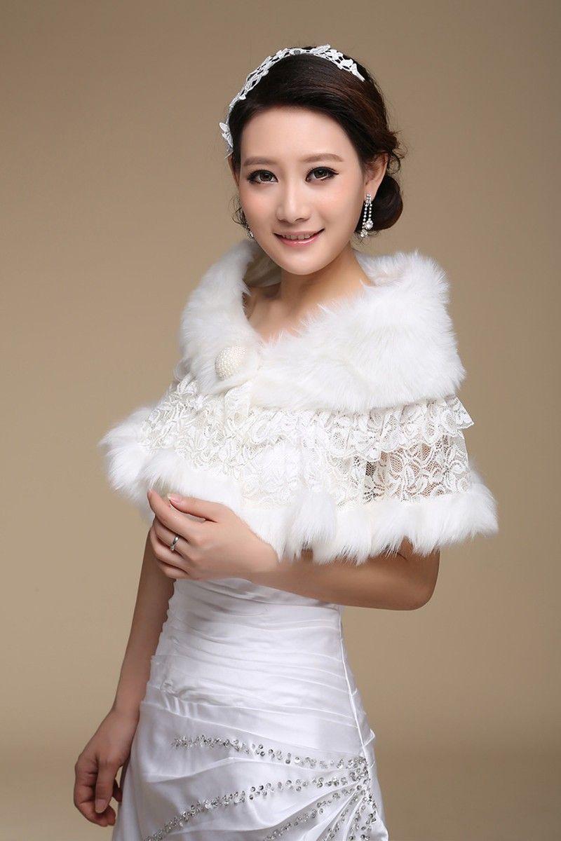 Bolero fake fur and lace