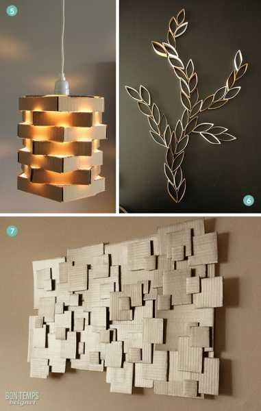 10 Ways to Use Cardboard in Your Decor