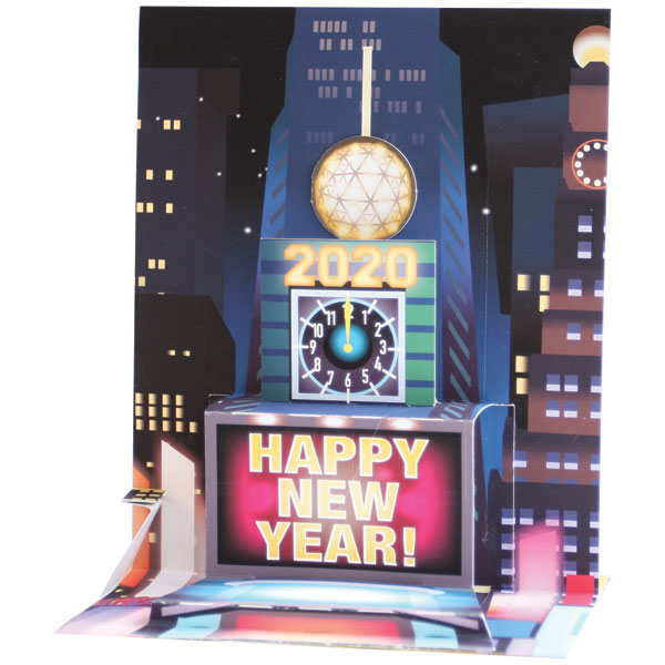 New Year's Ball Drop Audio Pop-Up Card