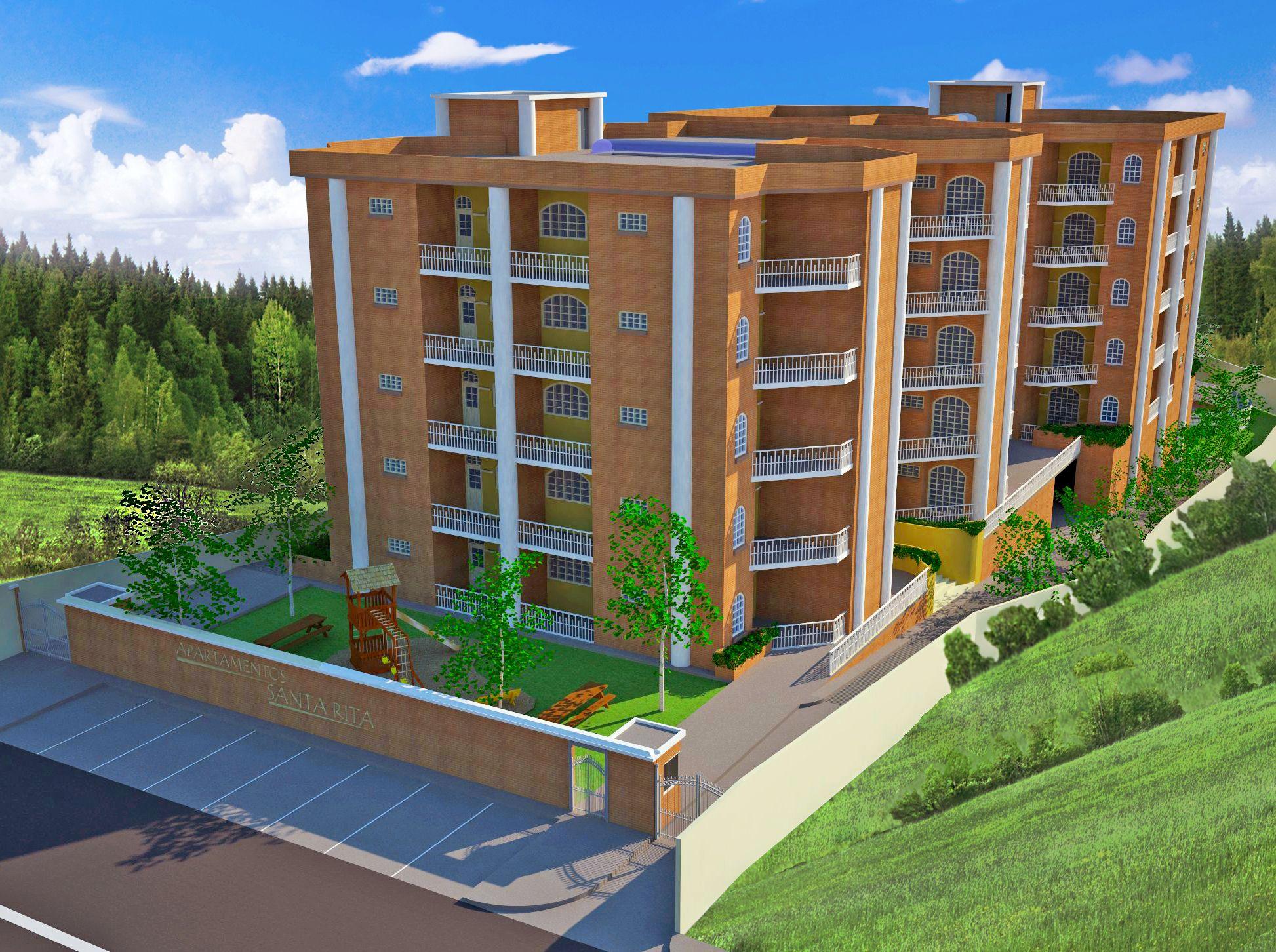 Perspectiva 1 Complejo habitacional, Edificios