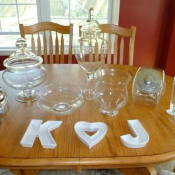 Monogram Candy Dishes | Candy dishes, Sweet sixteen ...