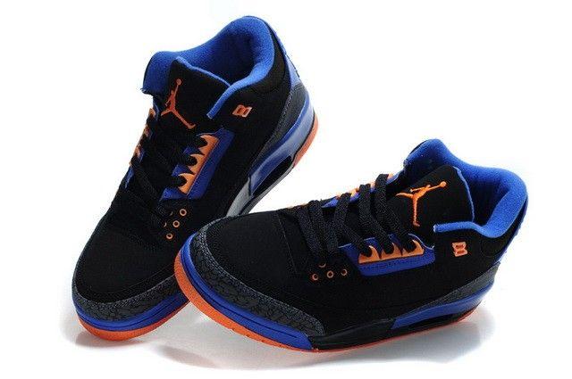 super popular 1232c e719f Air Jordan 3 Retro Hombre negros azules zapatos de los Hombre de .