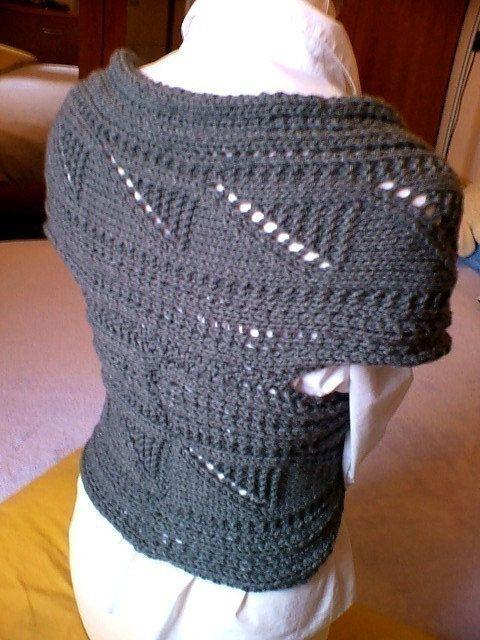 Punto suéter del Knit del patrón capucha chaleco por PillandPattern ...
