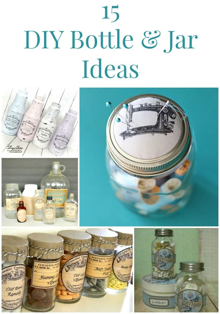 15 DIY Bottle and Jar Ideas - The Graphics Fairy