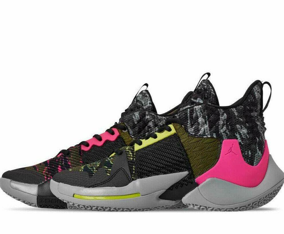 Jordan Why Not Zero 2 I Don T Care Mens Basketball Shoes Smoke