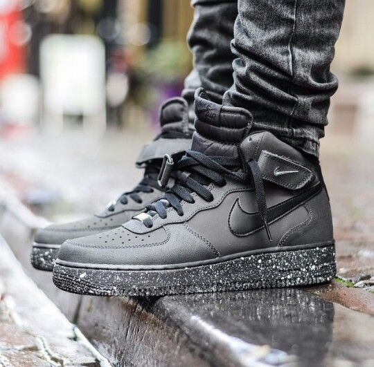 Nike Air Force 1 Black High Tops Sneakers Men Fashion Sneakers Fashion Hype Shoes