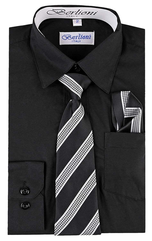 50++ Boys black dress shirts information
