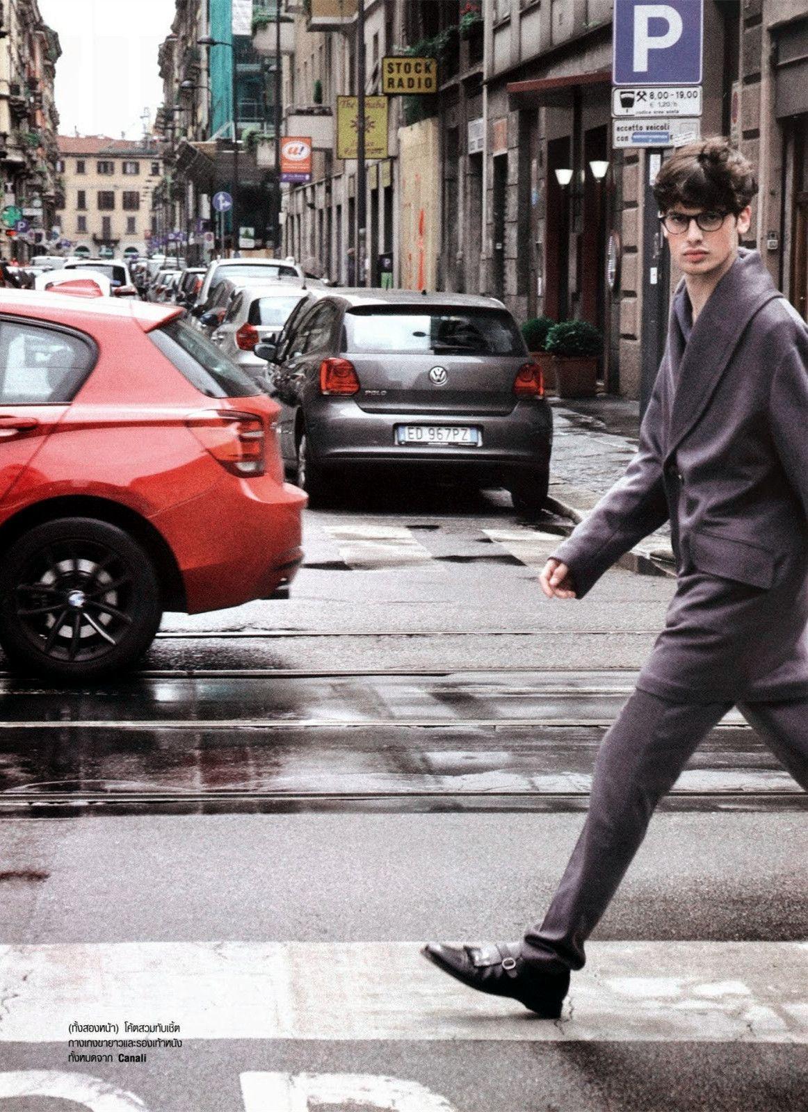"Andrea Silenzi in ""Milano"" Photographed & Styled by Nichakul Kitayanubhongse for Harper's Bazaar Men Thailand Fall/Winter 2014"