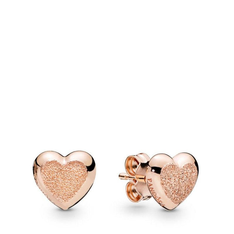 orecchini pandora cuore oro rosa