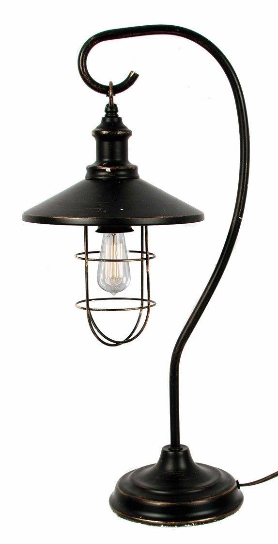 Black Iron Shepherds Hook Lantern Table Lamp 25 H Lantern Table Lamp Table Lamp Lamp