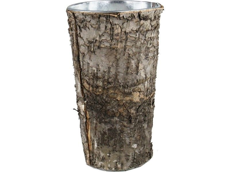 Natural Birch Wood Wrap Zinc Cylinder Vase Products Pinterest