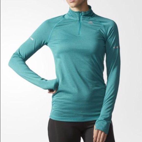 0b36953afcaf PRICE DROPAdidas running half-zip NWT pink Adidas climalite half-zip.  Sleeves have