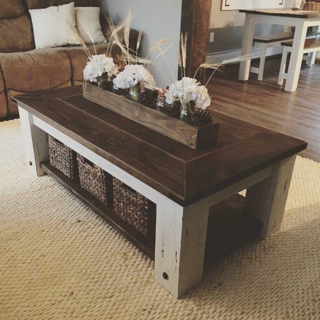 DIY Chunky Farmhouse Coffee Table Plans Coffee table