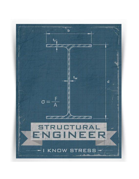 Structural engineer i know stress print - modern, funny - new blueprint company saudi arabia