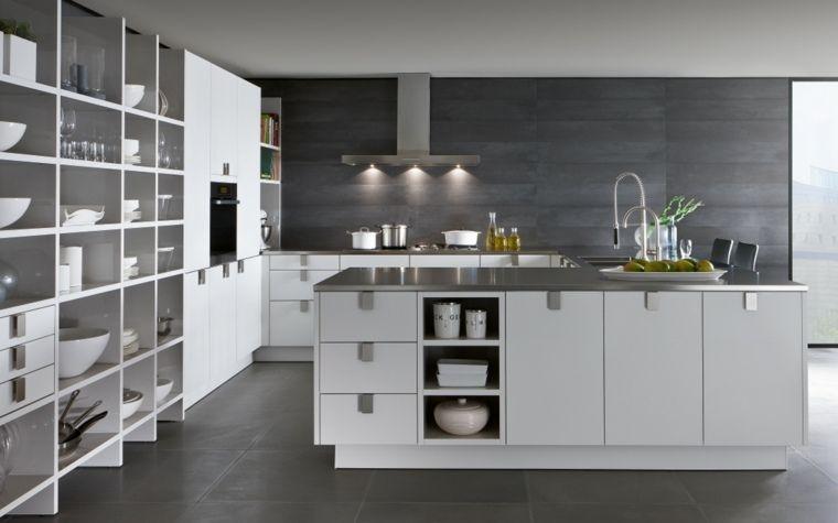 Cuisine moderne blanche avec îlot en 83 idées inspirantes - Cuisine Moderne Design Avec Ilot