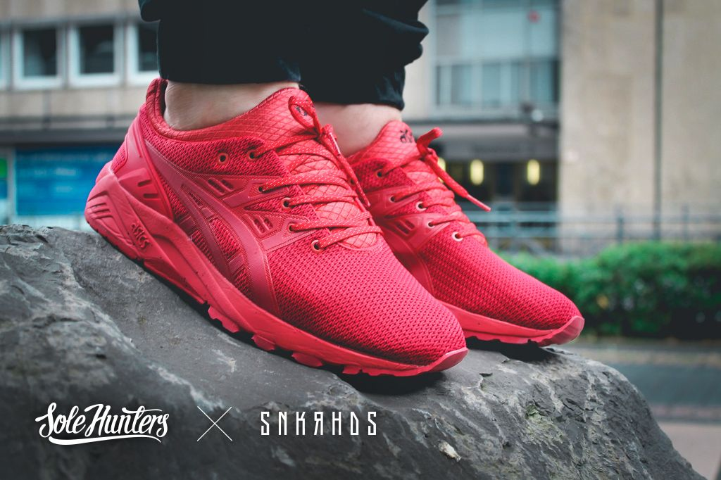 """watch 8c149 e49ad Asics Gel Kayano Trainer Evo """"Red""""   Outfits♂️   Sneakers ..."""