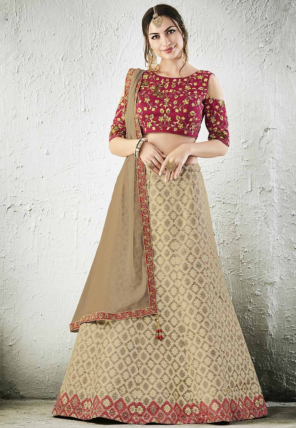 ffc48c6872b Buy latest wedding lehenga online at competitive prices in India from the  best ethnic wear collections. Also