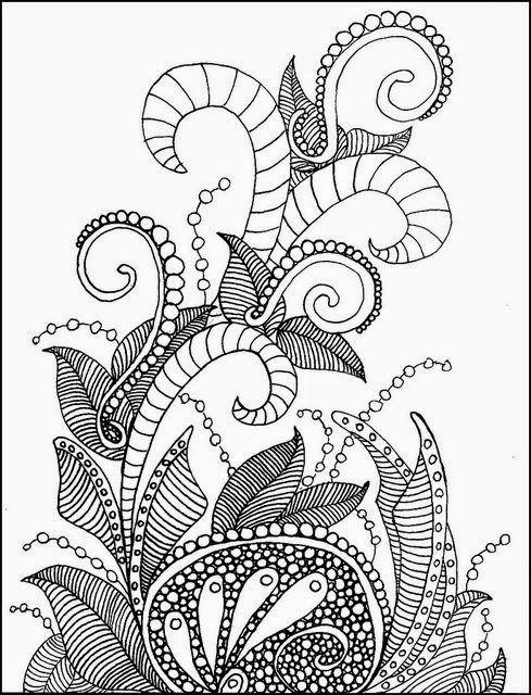 Yetiskinler Icin Boyama Sayfalari Zentangle Desenler Doodle