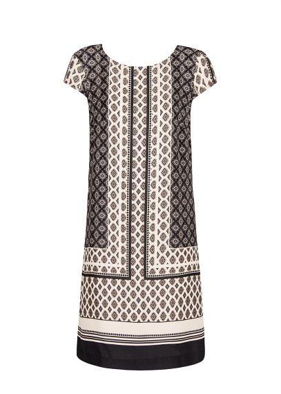 408789ae3afb Robe droite à imprimé foulard - Femme