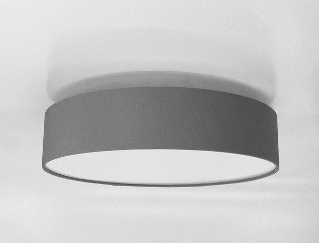 Deckenlampen   Deckenleuchte 70 Cm +Diffusor Hellgrau   Ein Designerstück  Von Lichthaus Bei DaWanda