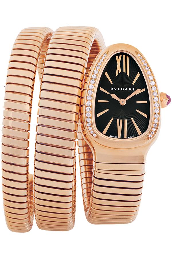 Bulgari Serpenti Women s Watch, Rose Gold with Diamonds   Relógios ... 2f9da69a9c