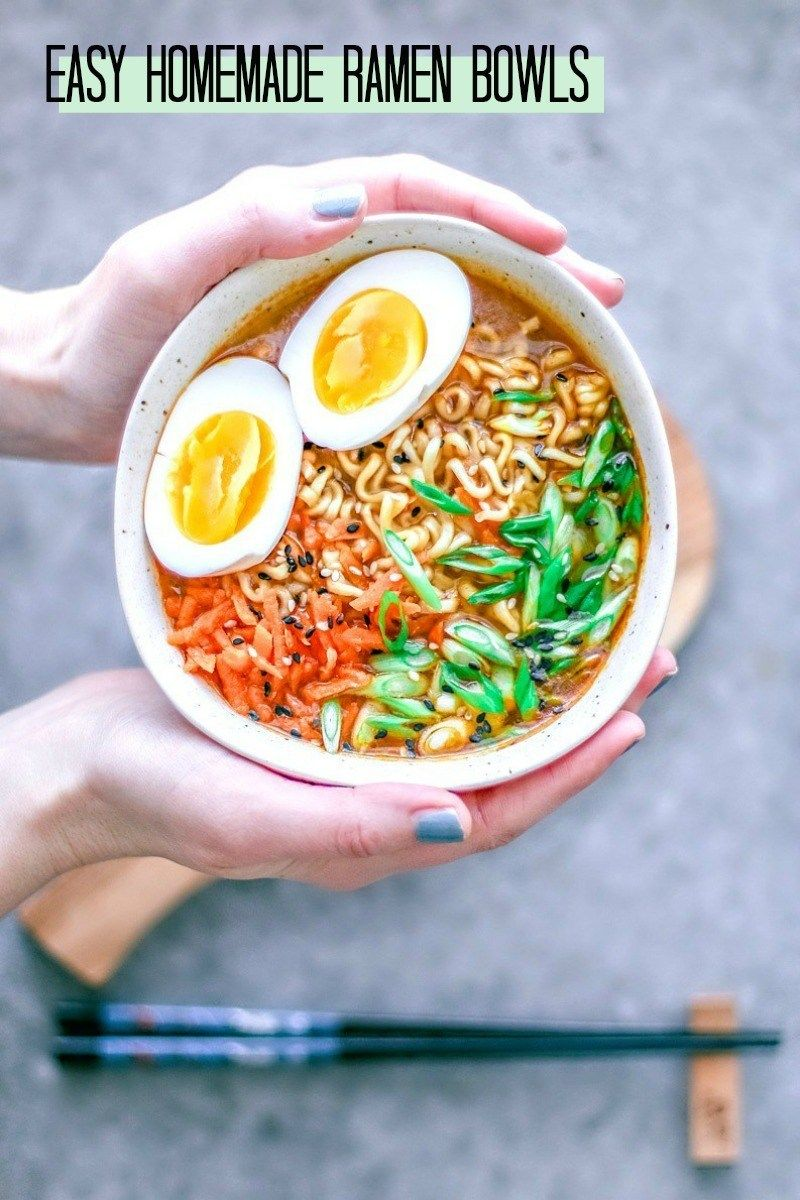 Easy Homemade Ramem Bowls #Ramen #soup #Asian #Japanesefood #homemade #easyrecipes #noodles