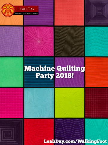 Join Leah Day For Next Year S Quilt Along Featuring Multiple Quilt Projects With A Range Of Quilti Walking Foot Quilting Free Motion Quilting Machine Quilting