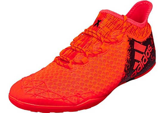 0fe504854 adidas X 16.1 Court Soccer Shoes - Solar Red   Black