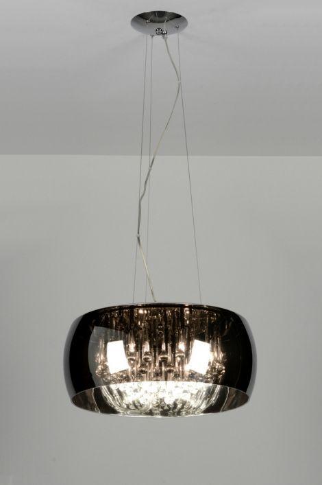 hanglamp 87583 design chroom glas kristal lamp eettafel pinterest hanglamp lampen en. Black Bedroom Furniture Sets. Home Design Ideas