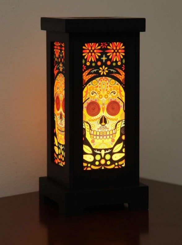 Lamp shade skull lamp shade with a colourful skull print all lamp lamp shade skull lamp shade with a colourful skull print all lamp shades come with aloadofball Image collections