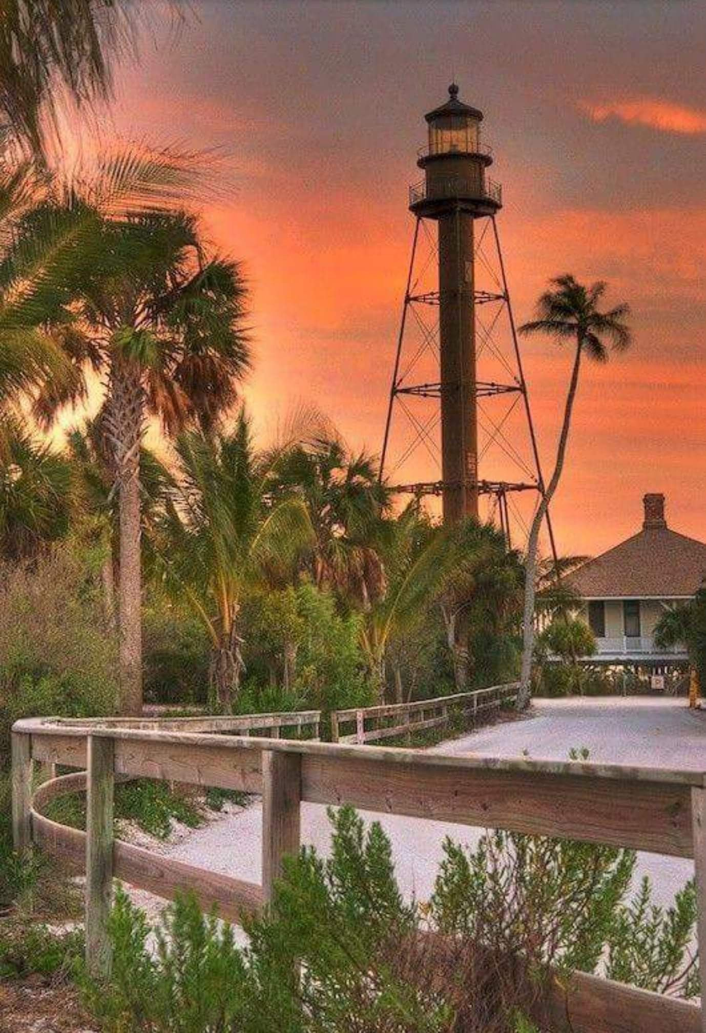 First Lighthouse On Gulf Coast Of Florida North Of Key