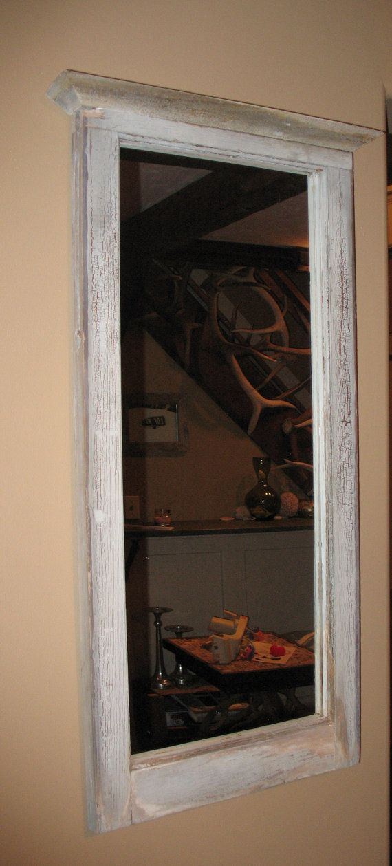 Antique Wooden Window Frame Mirrors Design Ideas
