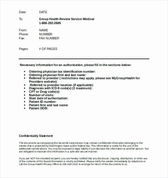 New Standard Medical Fax Cover Sheet Template Download in ...