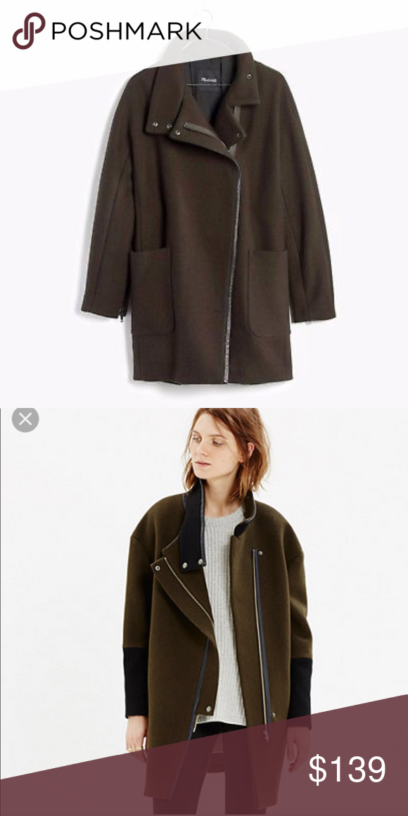 NWT Madewell City Grid Coat NWT Coat, Madewell jacket