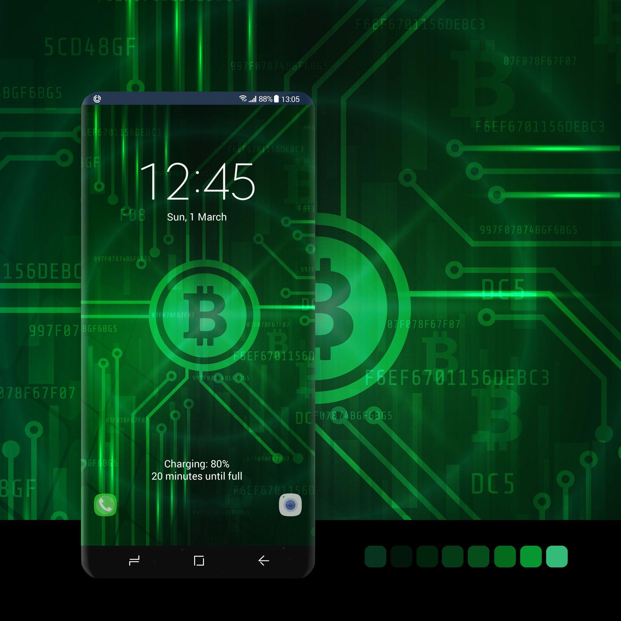 Green bitcoin wallpaper wallpaper, android, phone,