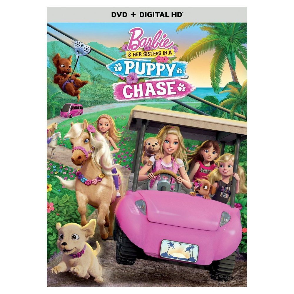 Barbie Her Sisters In A Puppy Chase Dvd In 2021 Barbie And Her Sisters Barbie Movies Barbie