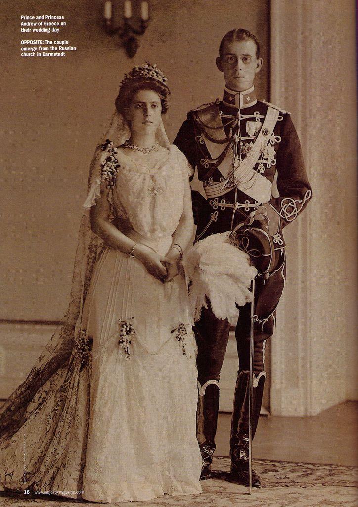 Prince & Princess Andrew of Greece 1903 Princess alice