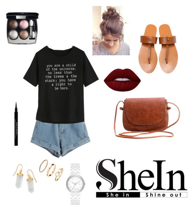 """She In"" by rachelakopp on Polyvore featuring WithChic, BillyTheTree, DKNY, Lime Crime, Givenchy and Chanel"