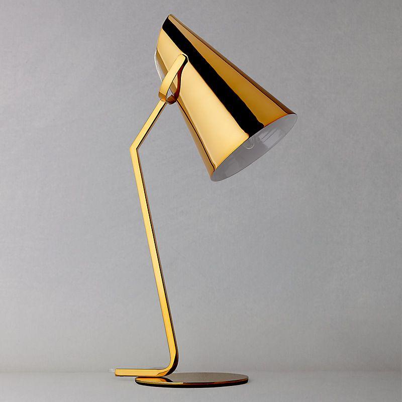 Buy John Lewis Allie Task Lamp, Gold online at John Lewis