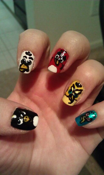 Angry Birds | Nail Art | Pinterest | Angry birds, Manicure and Makeup