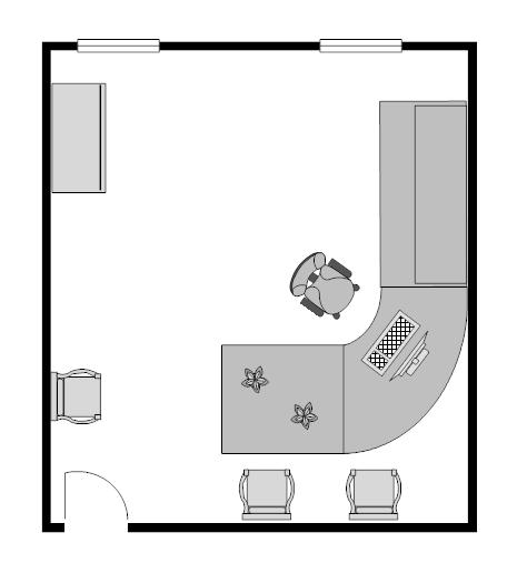 Example Image Office Floor Plan X  Floor Plan